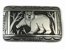 Sterling Silver Bear Belt Buckle by Tommy Singer, Navajo Jewelry