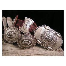 Navajo Handmade Sterling Silver Concho Belt