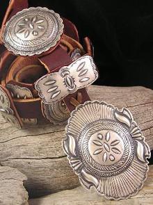 Eugene Charley Sterling Silver Concho Belt