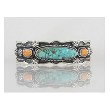 Natural Turquoise Mountain & Spiny Oyster Shell Bracelet