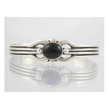 Sterling Silver Onyx Bracelet (BR1175)