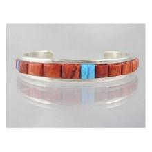 Spiny Oyster Shell & Opal Inlay Bracelet
