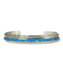 Blue Opal Inlay Bracelet by Thomas Francisco