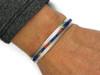 Lapis, Coral, Jet & Opal Inlay Bracelet by Thomas Francisco