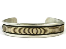 14k Gold & Sterling Silver Bracelet Large by Bruce Morgan (BR2962)