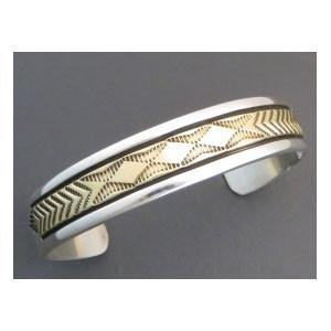 14k Gold & Sterling Silver Bracelet by Bruce Morgan
