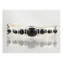 Sterling Silver Onyx Bracelet with Arrows