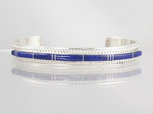 Sterling Silver Lapis Inlay Bracelet