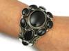 Black Onyx Cluster Bracelet by Aaron Toadlena, Navajo