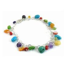 Turquoise & Gemstone Beaded Charm Bracelet