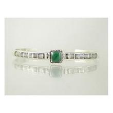 Sterling Silver Malachite Bracelet (BR4110)