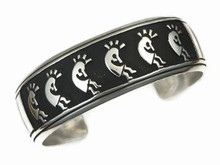 Sterling Silver Large Kokopelli Bracelet by Tommy Singer, Navajo (BR5213)