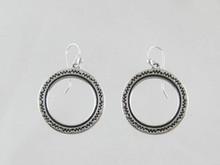 Sterling Silver Stamped Circle Earrings