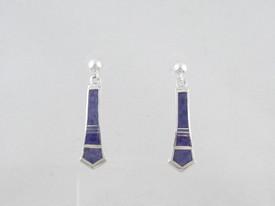 Sterling Silver Sugilite Inlay Earrings