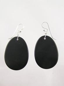 Jet Slab Earrings