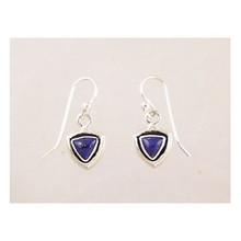 Sterling Silver Lapis Dangle Earrings
