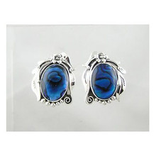 Sterling Silver Paua Shell Earrings (ER2187)