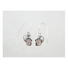 Sterling Silver Pink Mother of Pearl Earrings (ER2239)