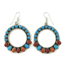 Sleeping Beauty Turquoise, Coral & Spiny Oyster Shell Earrings by Emma Lincoln