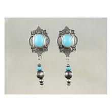 Sleeping Beauty Turquoise Dangle Earrings by Albert Jake (ER3221)