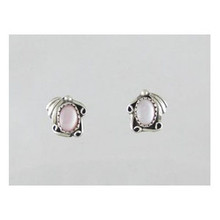 Sterling Silver Pink Mother of Pearl Earrings (ER3622)