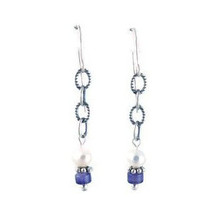 Sterling Silver Amethyst & Pearl Earrings