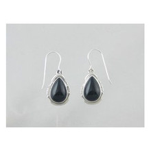 Sterling Silver Onyx Earrings (ER5315)
