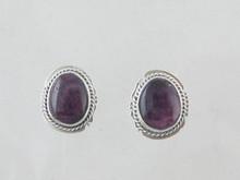 Sterling Silver Purple Spiny Oyster Shell Earrings (ER5342)