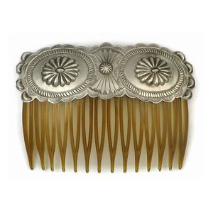 Handmade Sterling Silver Hair Comb by Eugene Charley, Navajo Jewelry