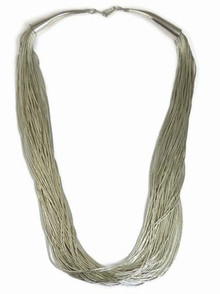 50 Strand Liquid Silver Necklace Adjustable Length 24""