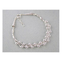Liquid Silver Bead Bracelet (LSBR049)
