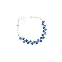 Liquid Silver Lapis Bead Bracelet