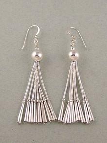 Liquid Silver Dangle Earrings