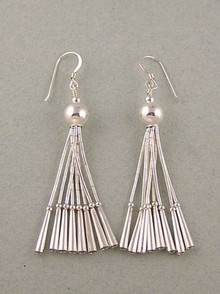 Liquid Silver Dangle Earrings