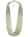 "100 Strand Liquid Silver Necklace 18"" - 20"" Adjustable Length"