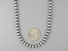 """Antiqued Sterling Silver 6mm Bead Necklace 18"""""""