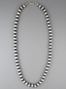 Antiqued Sterling Silver 8mm Bead Necklace 18""