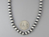 Antiqued Sterling Silver 8mm Bead Necklace 20""
