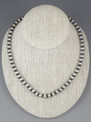 """Antiqued Sterling Silver 8mm Bead Necklace 30"""""""