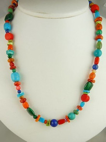 Multi Gemstone Beaded Necklace