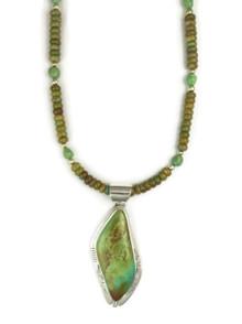 Sterling Silver Manassa Turquoise Necklace by Phillip Sanchez, San Felipe (NK2475)