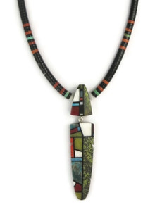 Mosaic Inlay & Heishi Necklace by Christopher Nieto, Santo Domingo