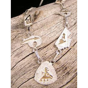 14k & Silver Native American Symbol Necklace by Tom Livingston