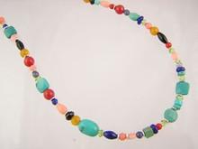 Turquoise & Gemstone Beaded Necklace