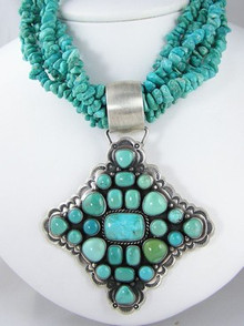 Sterling Silver Carico Lake & Sleeping Beauty Turquoise Bead Necklace