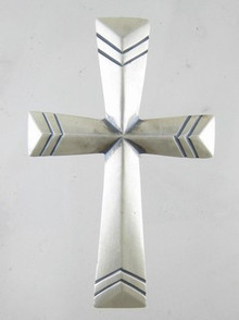 Sterling Silver Cross Pendant Extra Large - Linda Marble