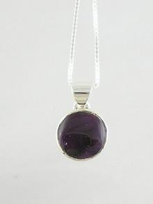 Sterling Silver Sugilite Pendant (PD0436)