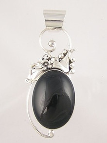 Sterling Silver Onyx Pendant (PD1120)
