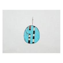 Turquoise & Gemstone Inlay Slab Pendant - Reversible