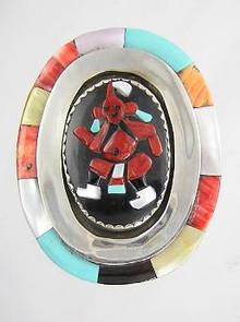 Zuni Mudhead Inlay Pendant - Pin